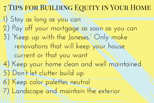 7 Tips for Building Equity in Your Home