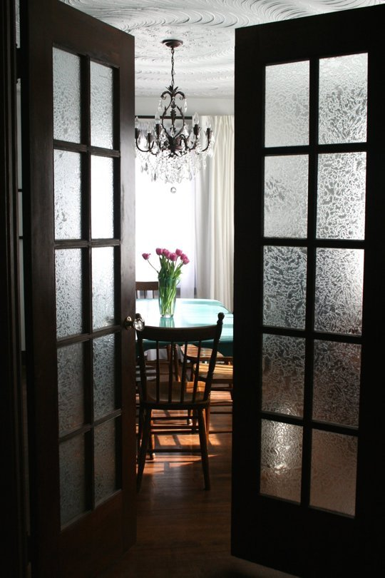 Frosted French Doors