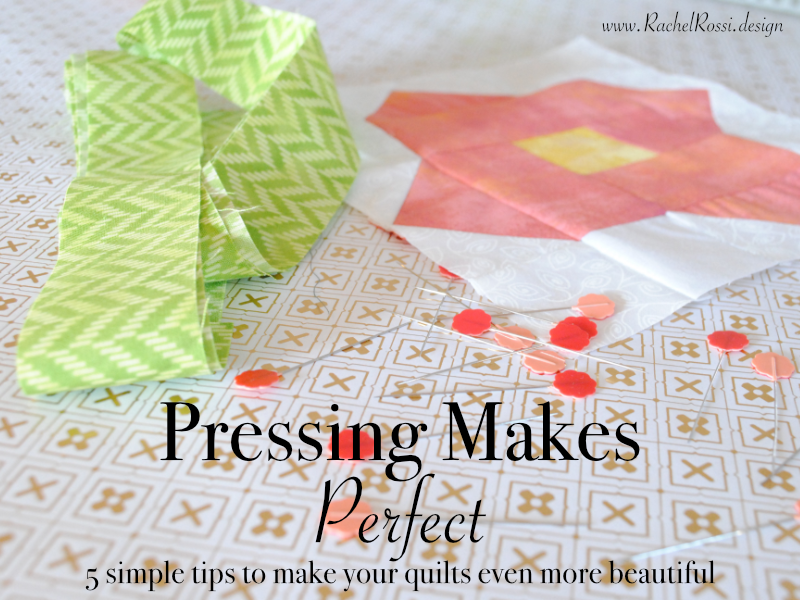 5 easy tips for ironing quilt pieces—it really does work!