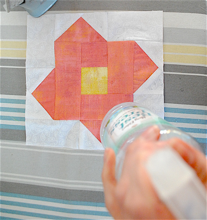 Should I starch quilt blocks?