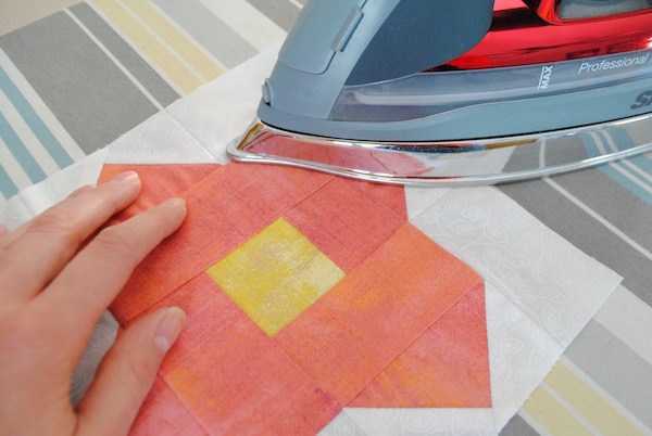 The best way to iron quilt blocks