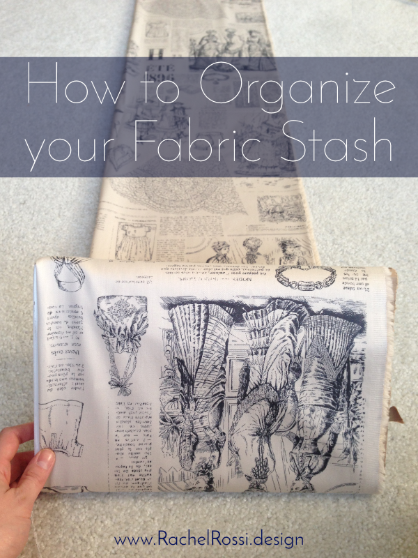 The best way to store fabric! Use cardboard bolts to store your fabric stash!