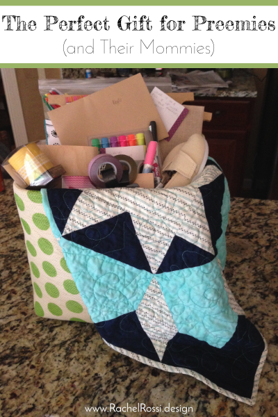 A full tutorial on creating a gift basket for Moms and babies that are premature!