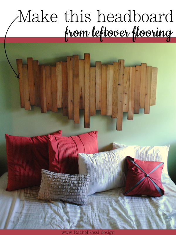how to make a headboard from wood flooring