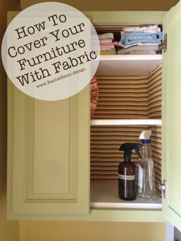A great DIY update for your cabinets! Try this tutorial the explains how to cover the inside of your cabinets with fabric!