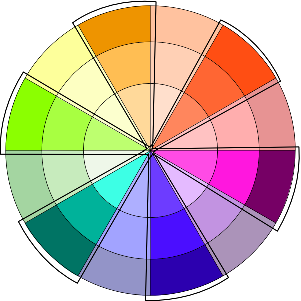 Warm Cool Colors On The Color Wheel