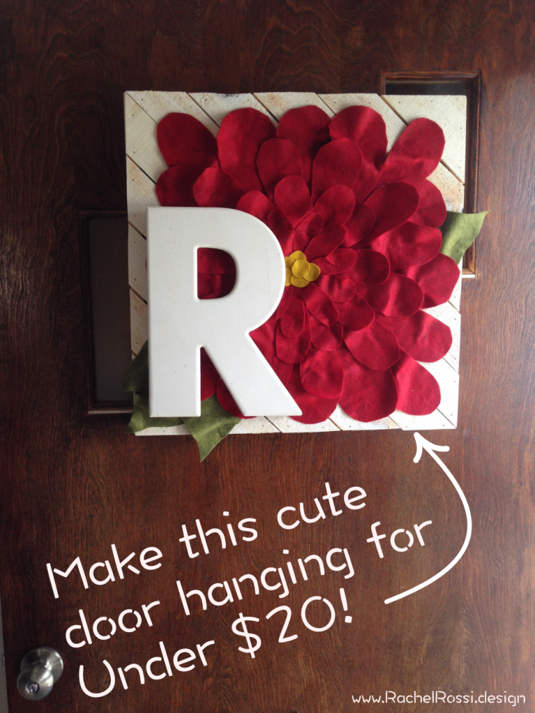 This fall DIY tutorial will show you every step in how to make a fall mum pallet door hanging with your initials on it for under $20!