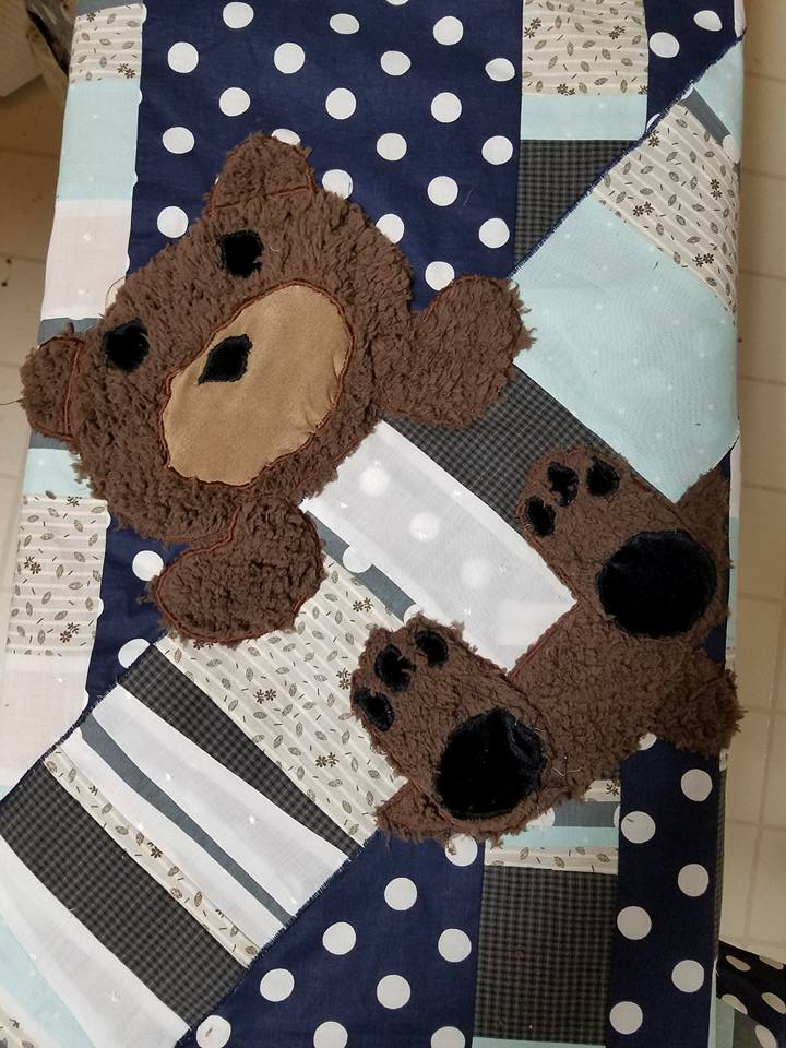 fuzzy bear applique