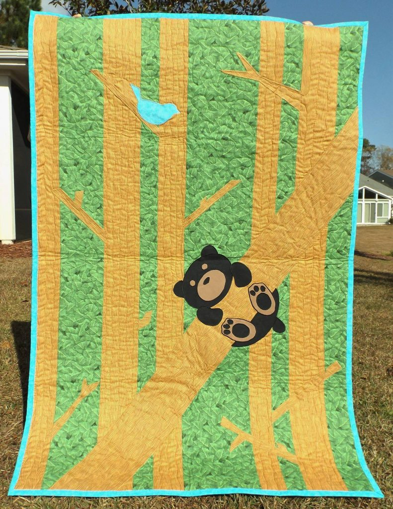 twin size woodland quilt