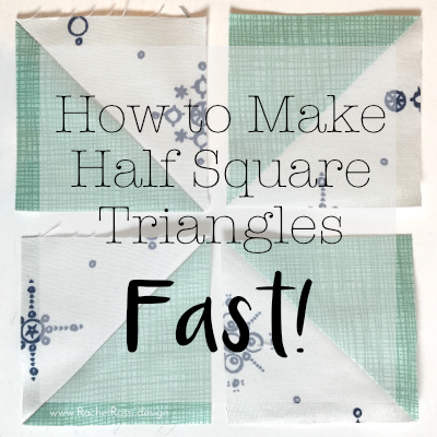 the fastest way to make half square triangles