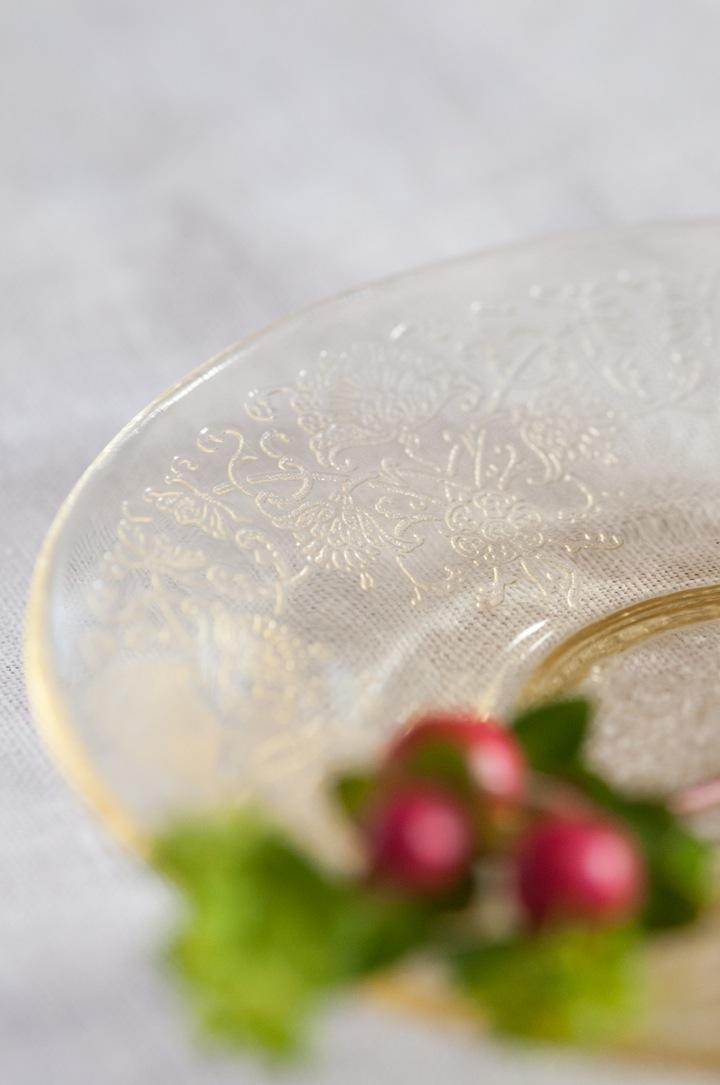 Yellow Depression Glass Plate