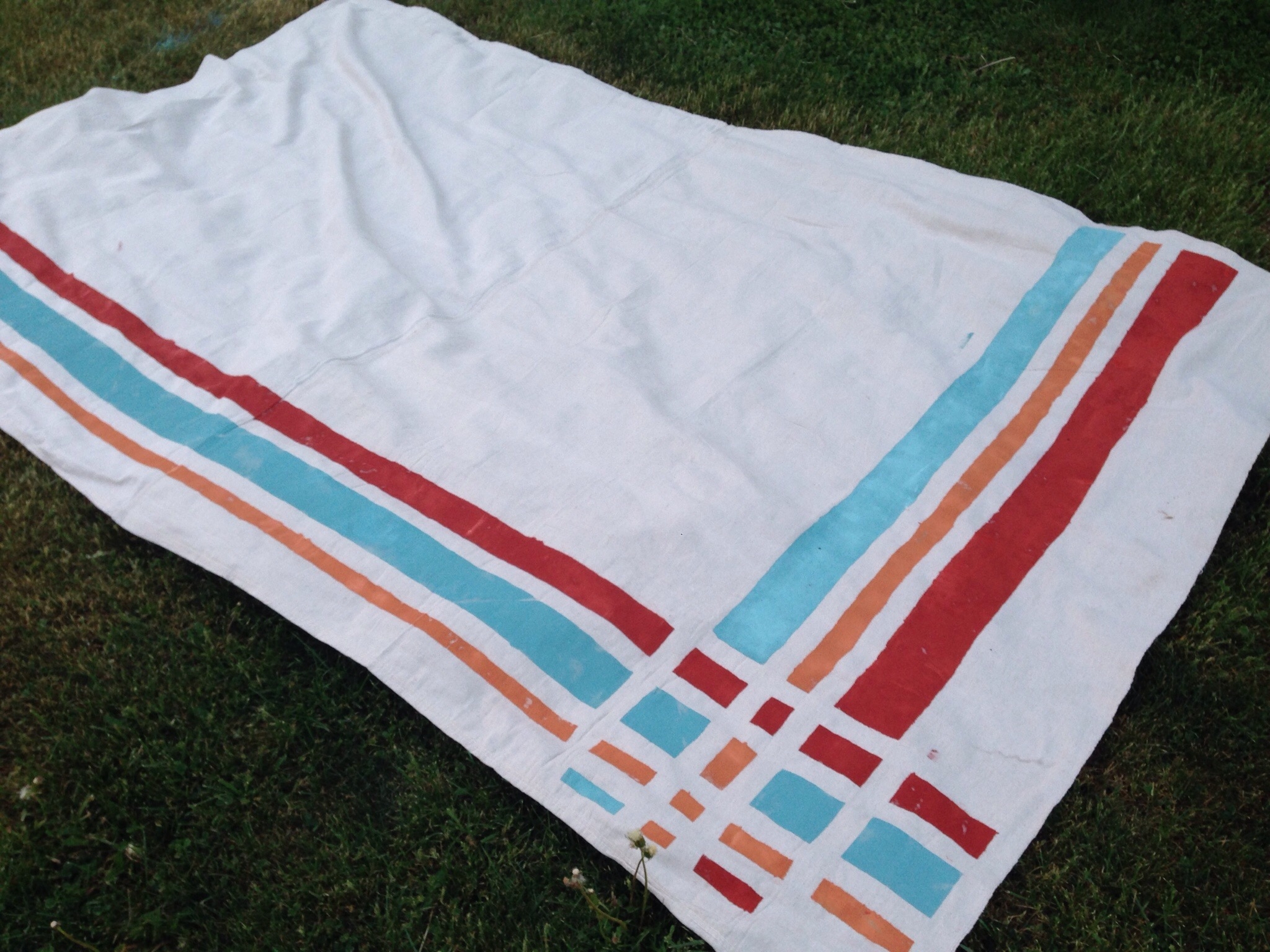 paint from a diy easy super party rug crafted porch cloth projects pinterest pt drop outdoor well