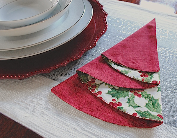 How To Fold Napkin Into Christmas Tree.Half Circle Christmas Tree Napkins Rachel Rossi