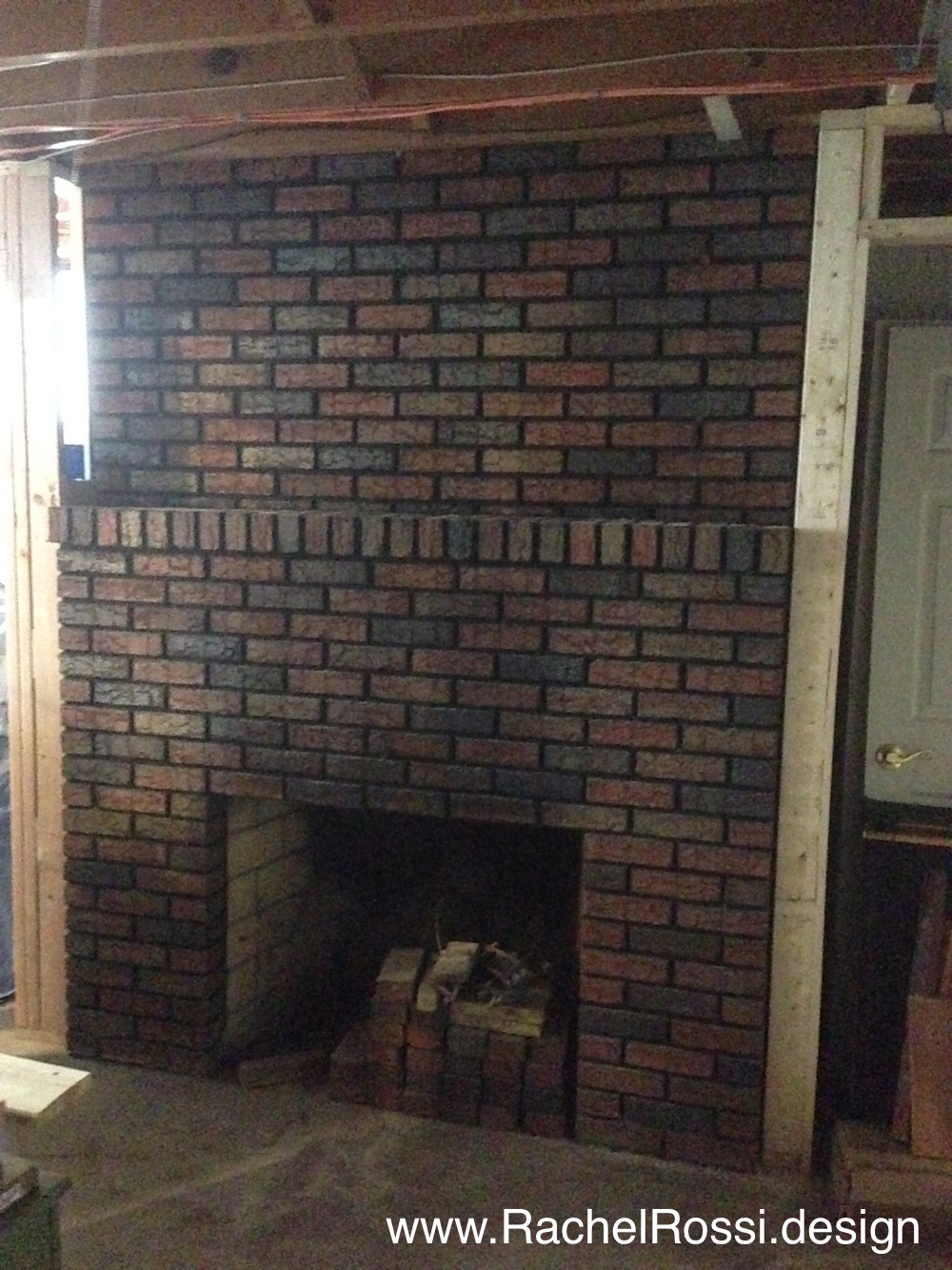 Astounding How To Blackwash Your Brick Fireplace Rachel Rossi Download Free Architecture Designs Lukepmadebymaigaardcom