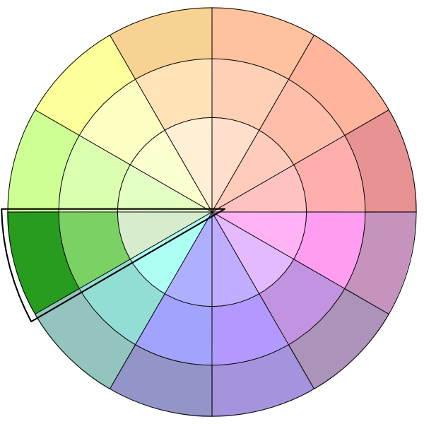 How a monochoromatic color scheme looks