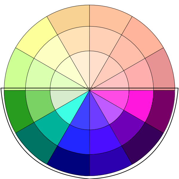 cool colors on color wheel