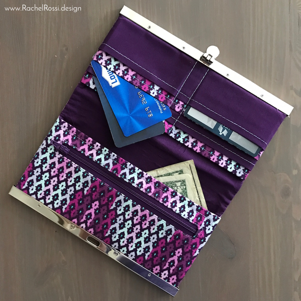 Diva Design: Pattern Review: The Diva Frame Wallet By Sew Many