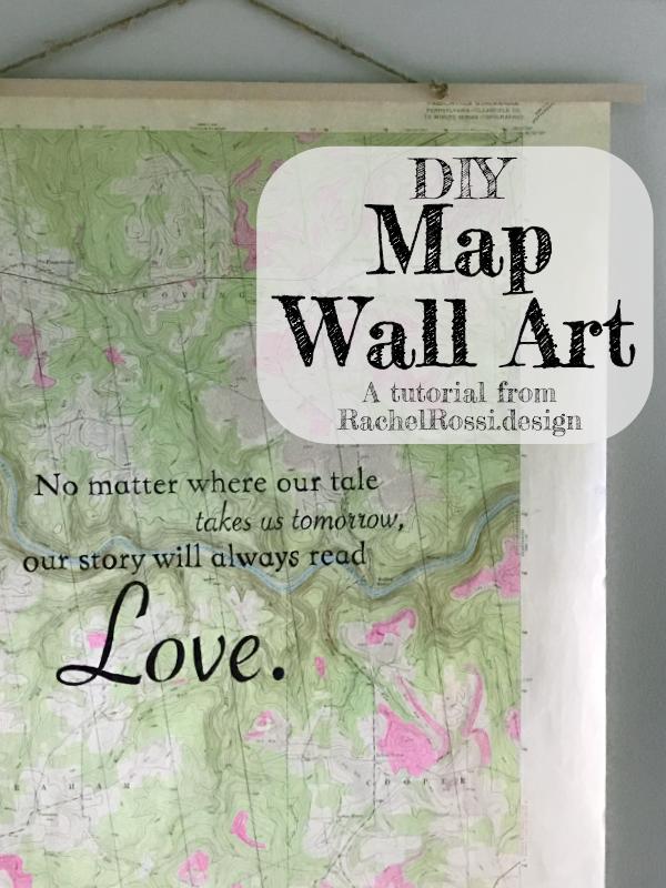 DIY Map Wall Art | Rachel Rossi