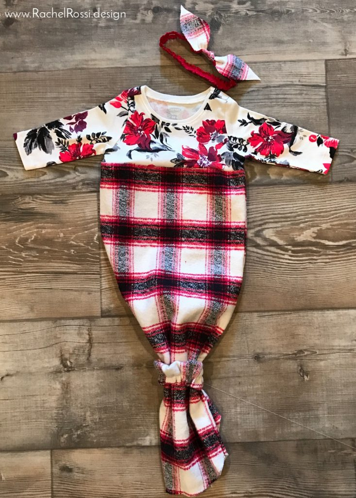 Easy Knotted Baby Gown Sewing Tutorial | Rachel Rossi Design