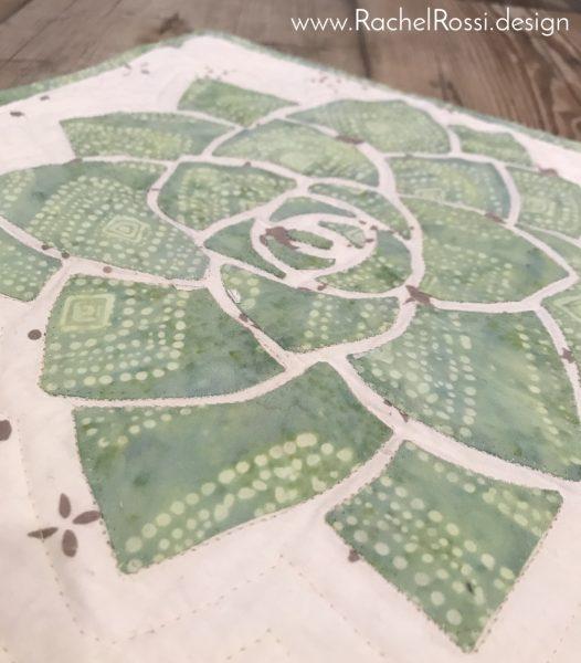 Batik Succulent quilt