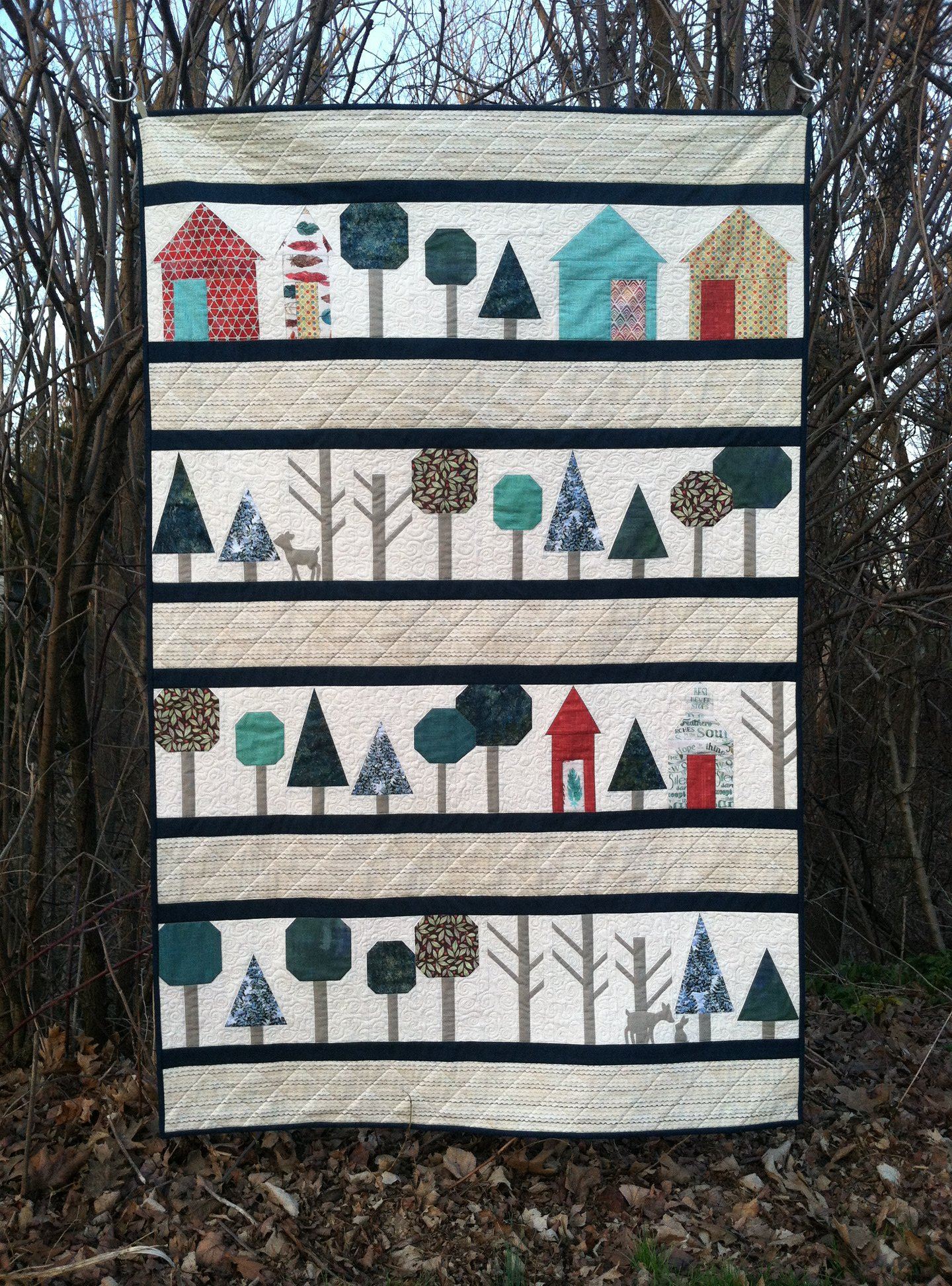 Pattern Through The Woods Quilt by Rachel Rossi Designs Paper Pieced Quilt Pattern