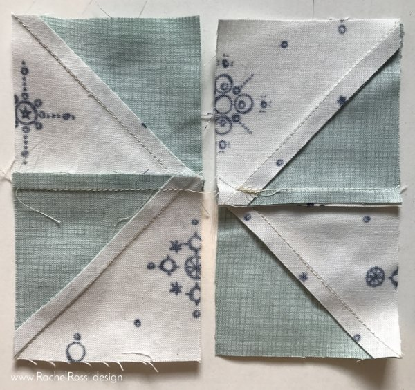 how to reduce bulky seams in pinwheel blocks