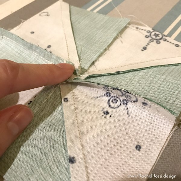 the flattet way to press a pinwheel
