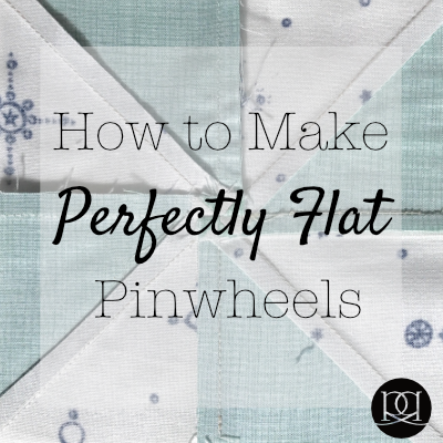 How to make perfectly flat pinwheel blocks