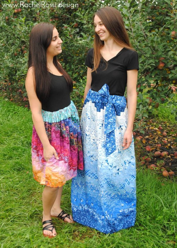 Maxi length pieced skirt pattern