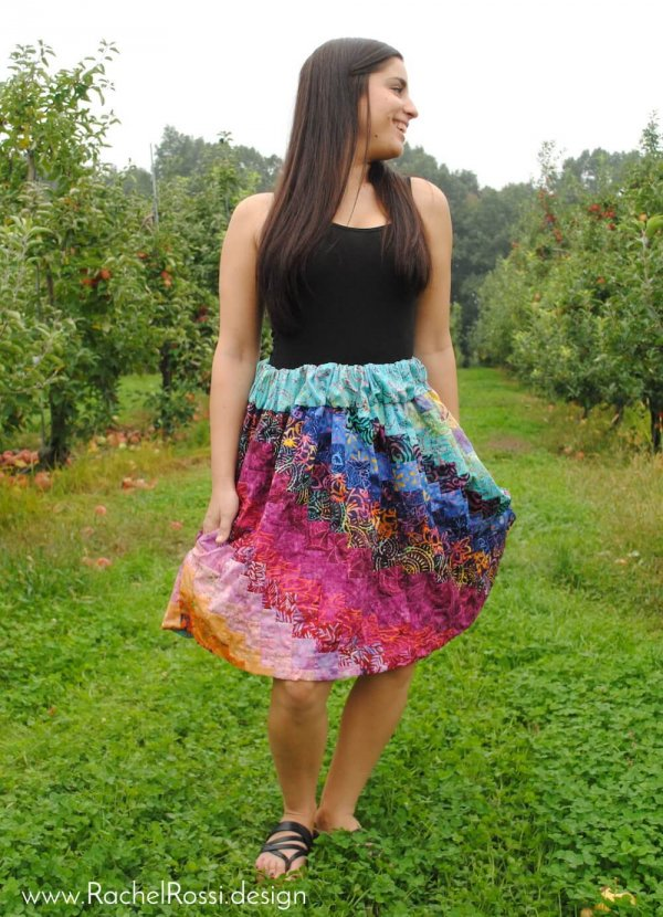 pieced skirt with pockets